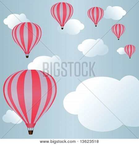 Background With Air Balloons