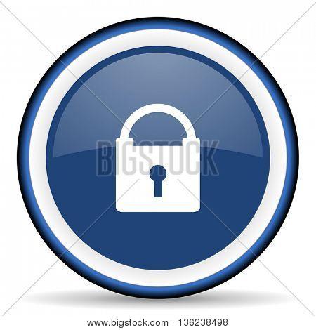 padlock round glossy icon, modern design web element
