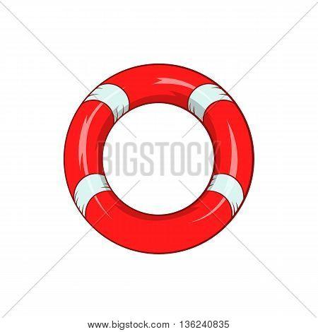 Lifeline icon in cartoon style isolated on white background. Salvation symbol