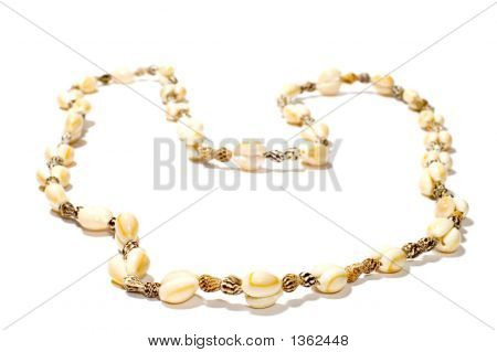 object on white: beads from sea shell poster