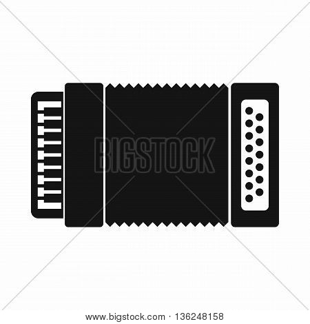 Accordion icon in simple style isolated on white background