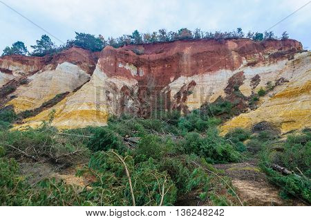 Colorful Ochre Mines In French Colorado, Provence, France