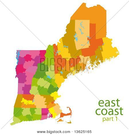 Karte der USA-Ostküste