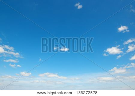 Small light clouds in blue sky