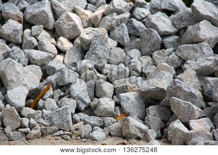 Various size of Grey rock background .