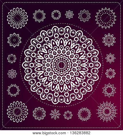 Set Of Mandala Illustration