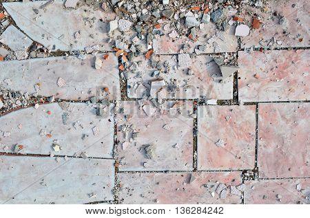 Texture of Old Broken Damaged Glaze Dalle
