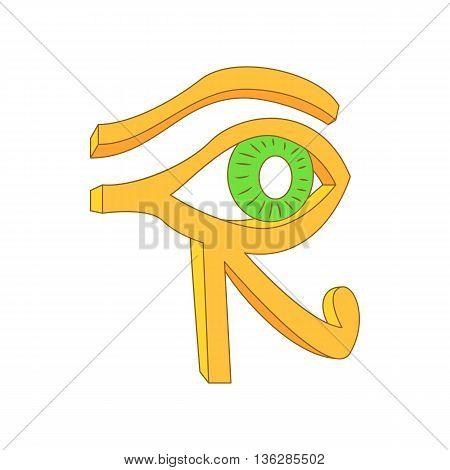 Eye of Horus icon in cartoon style on a white background
