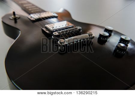 electric guitar Black, musical equipment for music