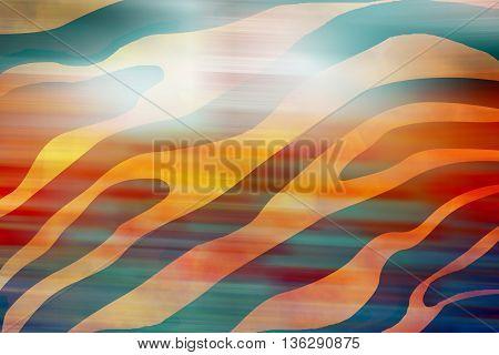 Blurry orange animal silk seamless pattern background