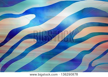 Gray blue animal silk seamless pattern background
