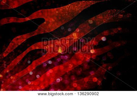 Dark Glittering black and red luxury copy space background