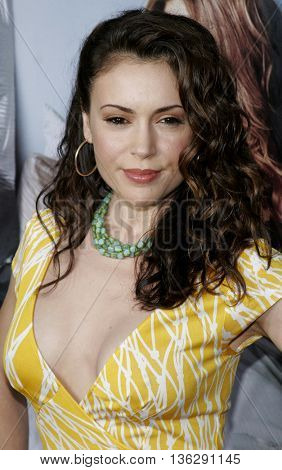 Alyssa Milano at the World premiere of 'The Break-Up' held at the Mann Village Theatre in Westwood,  USA on May 22, 2006.