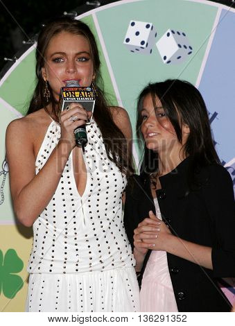 Ali Lohan and Lindsay Lohan at the Los Angeles premiere of 'Just My Luck' held at the Mann National Theater in Westwood, USA on May 9, 2006.