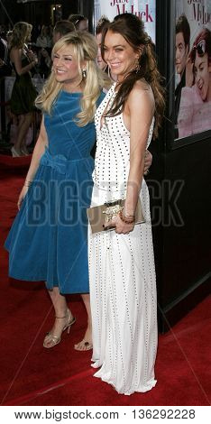 Lindsay Lohan and Samaire Armstrong at the Los Angeles premiere of 'Just My Luck' held at the Mann National Theater in Westwood, USA on May 9, 2006.