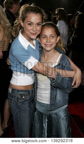 Makenzie Vega and Alexa Vega at the Los Angeles premiere of 'Just My Luck' held at the Mann National Theater in Westwood, USA on May 9, 2006.