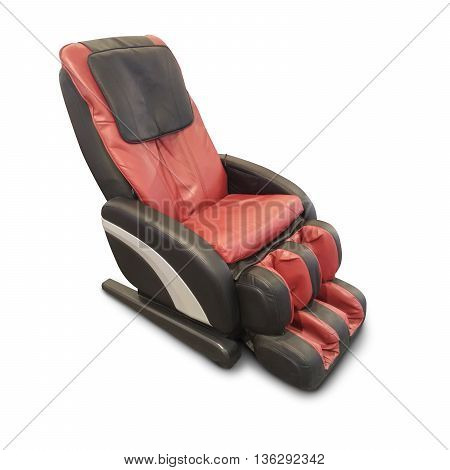 Massage chair isolate on white as background