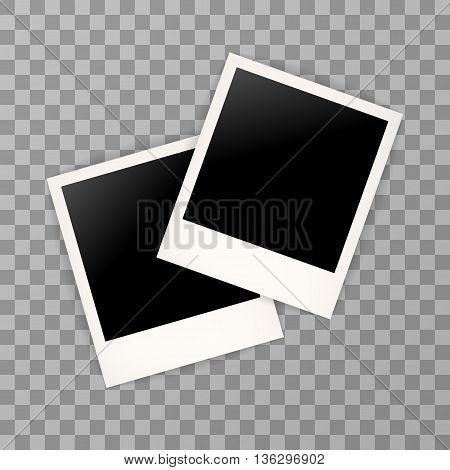 Two Photo Frame Retro . Photo Frame Isolated On A Background. Photo Frame Mock Up. Photo Frame Borde