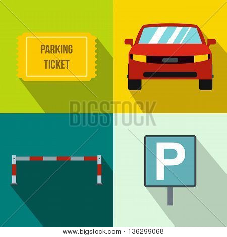 Parking banners set in flat style for any design