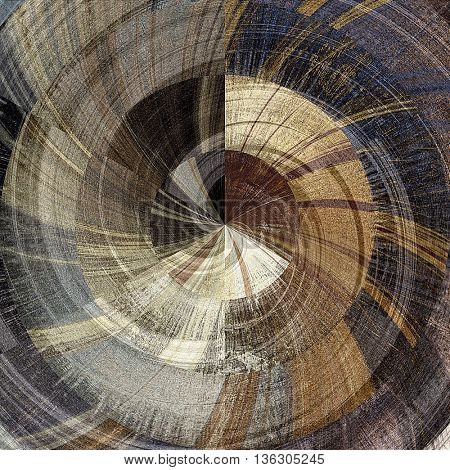 art abstract graphic spherical monochrome grunge background in grey, beige, brown and black colors; geometric pattern