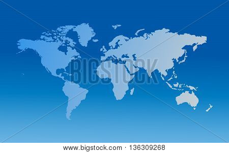 Globe Blue world map vector illustration, worldwide map