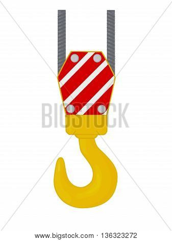 Crane hook isolated on white background, vector illustration.