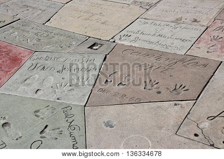 Hollywood Hand Prints