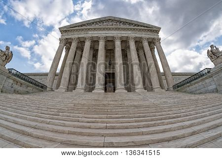 Supreme Court Building In Washington Dc Detail