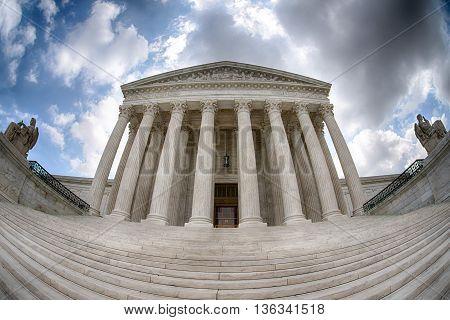 Supreme Court Building In Washington Dc Detail