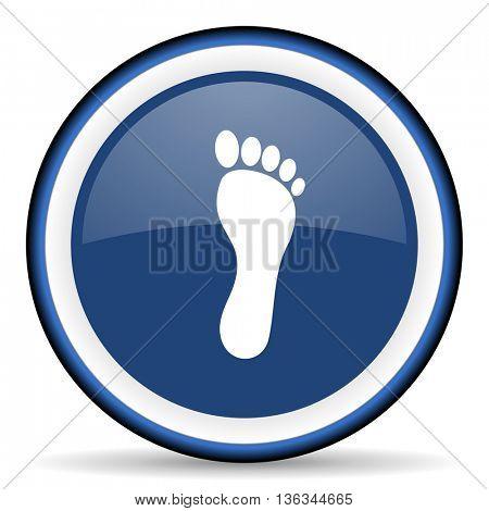 foot round glossy icon, modern design web element