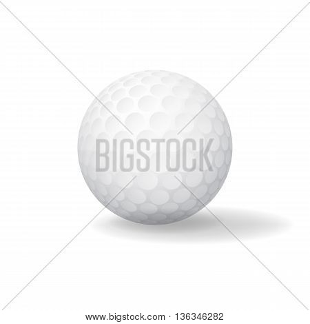 Ball for Golf. Golfball icon. Game symbol