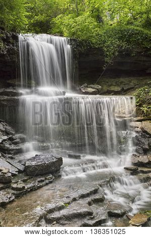 West Milton Cascades is an especially beautiful waterfall in Miami County Ohio.