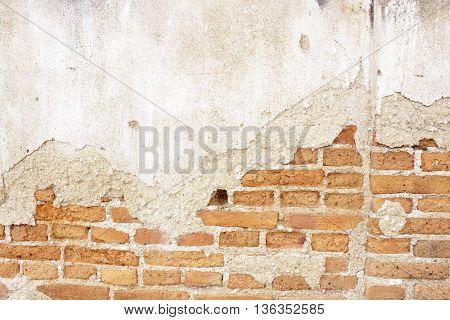 The old brick wall texture bacground  close-up