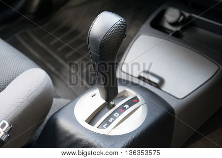Car interior. Automatic transmission gear shift. interior, car, stick