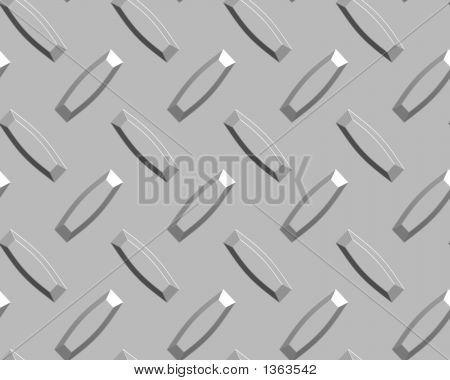 Diamond Plate Silver Large