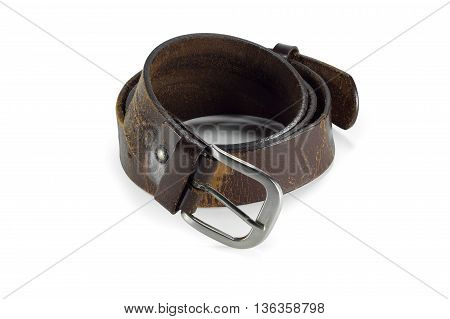 belt or men's brown belt isolated on a background