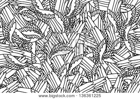 Seamless pattern of wings - stock vector
