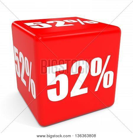 3D Red Sale Cube. 52 Percent Discount.