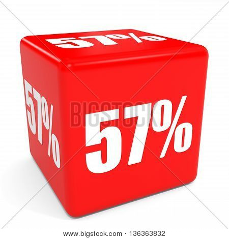 3D Red Sale Cube. 57 Percent Discount.
