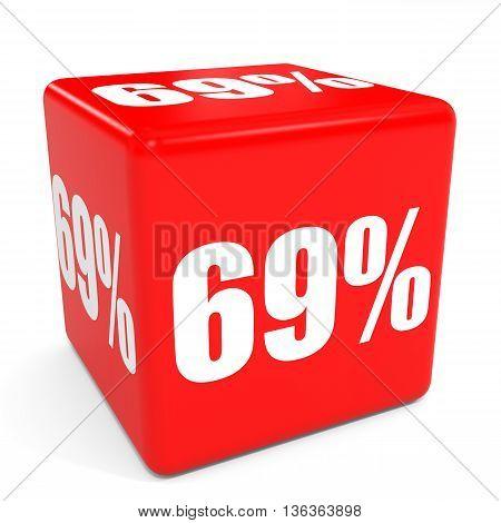 3D Red Sale Cube. 69 Percent Discount.