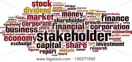 Stakeholder word cloud concept. Vector illustration on white