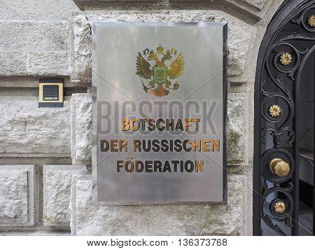 Russian Embassy In Berlin