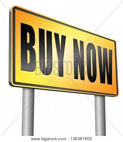 Buy now sign and here online sales sell on internet shop online shop buy and add to cart sign shopping webpage.