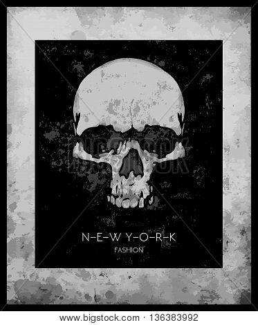 skull print/skull illustration/evil skull/concert posters/skull canvas print/skull tattoo/skull art/watercolor skull/Black grunge vector skull/Human skull on isolated white background/T-shirt Graphics
