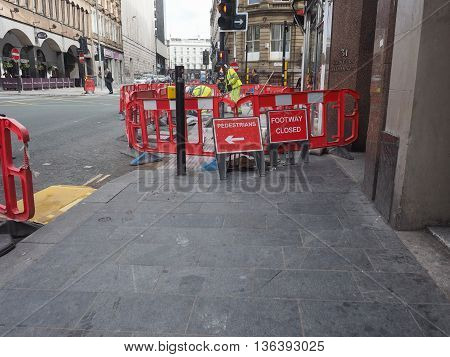 Roadworks In Liverpool