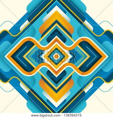 Modern style abstraction in color. Vector illustration.
