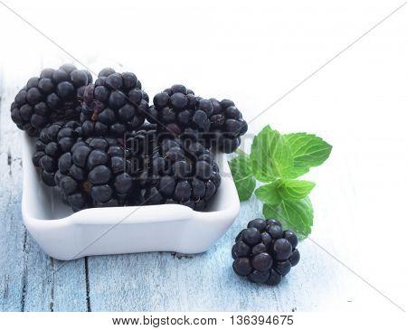 fresh blackberries