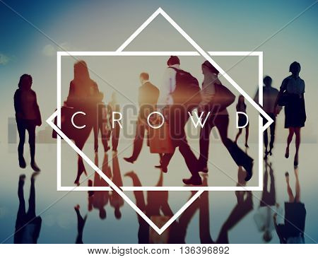 Crowd People Crew Mass Mob Concept