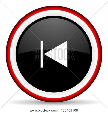 prev round glossy icon, modern design web element