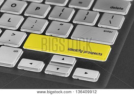 Keyboard  Button Written Word Identify Prospects